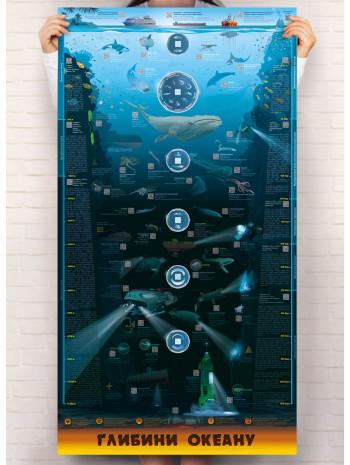 """Розумний плакат """"Глибини океану"""" книга купить"""