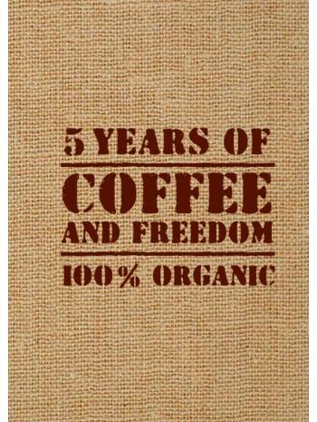 5 years of coffee and freedom (мешковина) книга купить