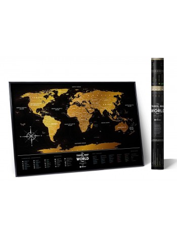 "Скретч мапа світу ""Travel Map Black World"" (англ) (тубус) книга купить"