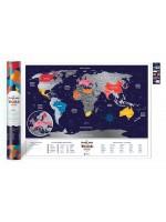 Скретч карта мира Travel Map Holiday