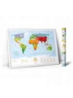"Карта світу ""Travel Map Kids Animals"" (рос+англ) (тубус)"