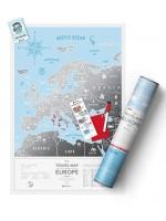 Скретч карта мира Travel Map Silver Europe
