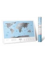 "Скретч карта світу ""Travel Map Silver World"" (англ) (тубус)"