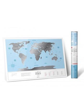 "Скретч карта світу ""Travel Map Silver World"" (англ) (тубус) книга купить"