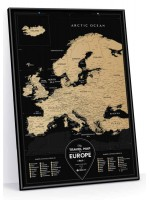 Скретч карта Travel Map Black Europe