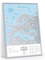 Скретч Карта Европы Travel Map Silver в раме
