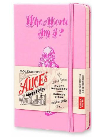 Блокнот Moleskine Alices Adventures in Wonderland маленький розовый книга купить