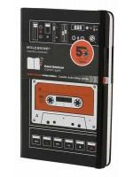 Блокнот Moleskine Audiocassette средний черный в линейку