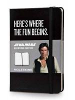 Блокнот Moleskine Star Wars маленький черный в линейку