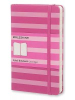 Блокнот Moleskine Stripes маленький розовый